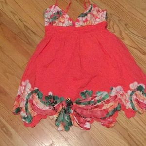 Ophelia coral summer dress